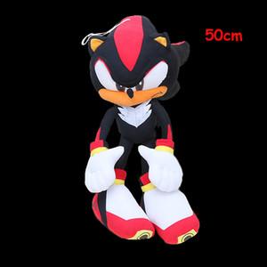 """19"""" 50cm Sonic the Hedgehog felpa grande estupendo de Sonic Hedgehog felpa juguete de plata del traje de Cosplay de Hegdehog relleno suave muñeca de la felpa LJ200914"""