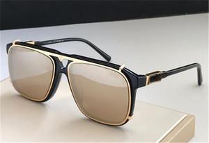 2020 nouvelle Le dernier cadre populaire combinaison métallique plaque de luxe lunettes de soleil concepteur mens mode carré marque supérieure lentille de qualité avec la boîte