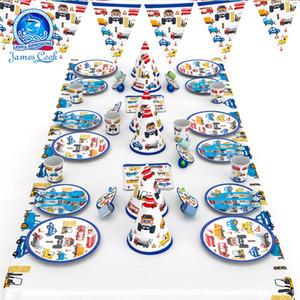 distribuzione di Cook veicolo di ingegneria blu cartone animato fornisce il layout atmosfera decorativa e Cook veicolo di ingegneria distribut blu cartone animato