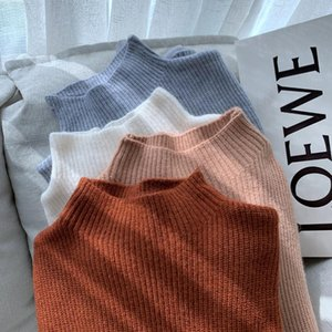 2020 Inverno de alta qualidade Half-Collar com DEPILADOS Angora abacaxi manta Bottoming Sweater macio agasalho quente
