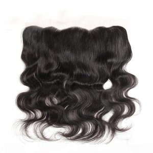 Body Wave 13x4 Lace Frontal Closure Brazilian Remy Hair Free Part Middle Part Natural Hairline Bleached Knots