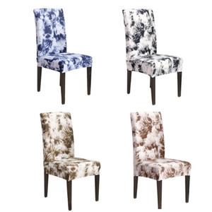 Натяжные чехлы на стулья с набивным рисунком Банкет сиденья Протектор Chair Чехол для столовой Главная партия Отель Свадьба