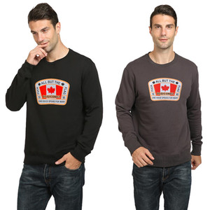Brand DSQICOND2 Big Maple Leaf printing round neck padded Sweatshirts pullover cotton loose men women couple top Sweater