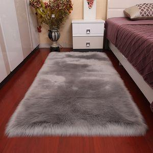 Rectangular wool carpet plush cushion sofa home living room bedroom bay window cushion multi-color choice cross-border wholesale