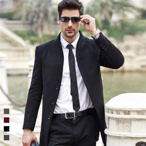 Lã Longo Slim Fit Brasão Casual Jacket Coats outerwear designer Homens Winter Blends outono