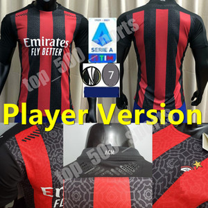 New Player version 20 21 AC milan soccer jersey 2020 2021 football shirt IBRAHIMOVIC BENNACER REBIC Camiseta de futbol ROMAGNOLI jerseys