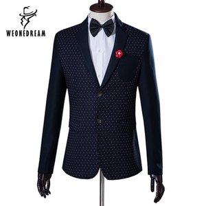 Wholesale- (Pants+Jackets) 2017 New Arrival England Style Mens Suit Slim Blazer Suit men Solid Plaid Jackets Wedding Tuxedo Male Stage Set