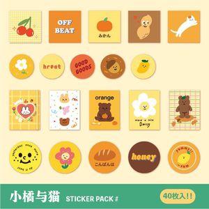 Stick Journal Tagebuch Scrapbooking Set Aufkleber Pcs Stickers 40 Bär Series Album-Aufkleber Dekorative Umschlag Nett Biscuit Stationery BfsrH