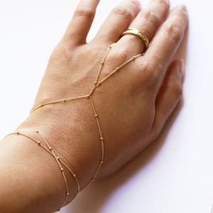 Gioielli Perle rame Boho di collegamento della barretta semplice braccialetto moda Handmade Slave Bracciali Charms signora Girls Bohemian mano Estate