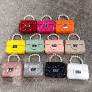 Kids Mini Jelly Purse and Handbag 2020 PVC Transparent Crossbody Bags for Baby Girls Cute Small Coin Pouch Party Hand Bag Purse