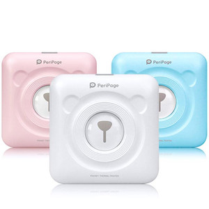 Photo Printe Portable Bluetooth Mini Picture 58mm Wireless Connection Pocket Peripage Printer For Children Kids Christmas Gifts