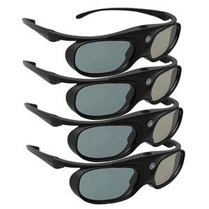 Freeshipping 4 pc attivi dell'otturatore 3D Glasses per DLP Link 96-144HZ Compatibile con Optane / Acer / BenQ / ViewSonic / XGIMI DLP Link Proiettori
