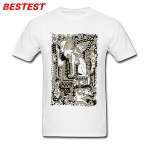 T Shirt For Men Novelty T-shirt Tribal Tattoo Art Design Clothing Crew Neck Short Sleeve Cotton Tops White Tees Vintage Tshirts 0924