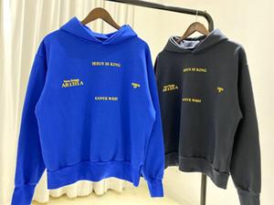 Parti Hoodie Erkekler Kapşonlu Sweatshirt Kadınlar Hoodie hoody dinleme 20ss Sonbahar Kış ABD Amerika Hip Hop Yıldız Kanye İsa Is Kral LA