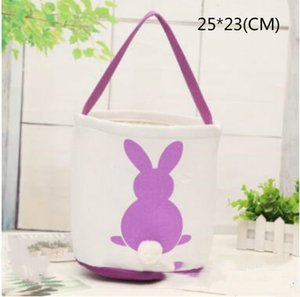 Easter Bunny Basket Rabbit Tail Ears Barrel Bags Kids Candy Baskets Party Festival Candies Easter Eggs Storage Totes Bunny Handbags
