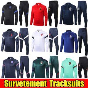 2020 2021 France National fato de treino da equipe de futebol Set CHANDAL 20 21 Itália Inglaterra Argentina Netherlands Football Treino survêtement Kit