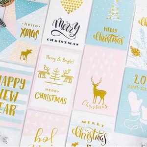 Litchi vita 12pcs di Natale Fioretto Carte Festival Decorative Greeting Cards fai da te favori Invito Natale artigianato