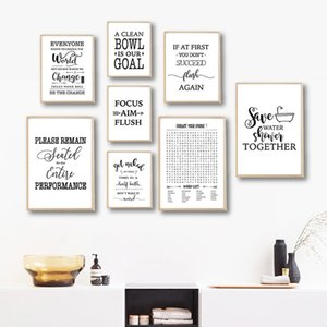 Funny Bathroom Signs Canvas Posters and Prints Bathroom Quotes Illustration Art Painting Picture Bathroom Toilet Wall Art Decor