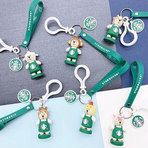 Bear Buck Keychain Couple Zodiac Small Pendant Souvenir Green Charm Key Ring Creative Boy and Girl Gift 2020