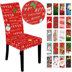 Рождество Stretch Председатель Обложка Merry Xmas Spandex Председатель Обложка Рождество Новый год Упругие Председатель Охватывает Hotel Restaurant Decoration