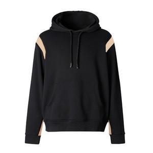 Casual 20SS con capucha de la vendimia a cuadros Moda Hoodies Hombres Mujeres camiseta de manga larga para hombre de suéter con capucha tamaño M-XXL