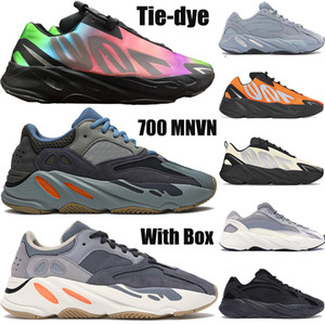 700 nouveaux v1 v2 mnvn OG réfléchissants kanye chaussures de course à l'ouest hommes femmes Teal carbone bleu Tie-dye Inertie Hospital chaussures de sport bleu Vanta mens