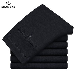 SHAN BAO Markengeschäft Herren Männer gerade Jeans 2020 Herbst Winter Luxus hochwertige bequeme klassische Hose