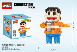 Japanses الكرتون شخصيات فيلم الرسوم المتحركة الطفولة كتلة الطوب للجنسين minifig لعبة تجمع محبي لعبة عرض البند 90S البلاستيكية هدية