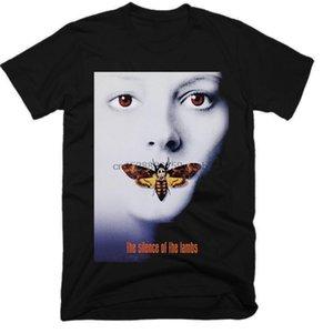 Kuzular Film MenTshirts Erkek Streetwear Tişört Moda 2019 T Gömlek Siyah Beyaz T Gömlekler Of Silence Siyah Üst