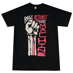 2019 새로운 여름 슬림 티 셔츠 RAGE AGAINST 기계 주먹 남성 T 셔츠 블랙