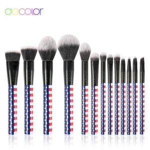 Docolor Professional 13pcs Makeup Brushes Set Comestic Powder Foundation Blush Eyeshadow Eyeliner Lip Make up Brush Beauty Tool