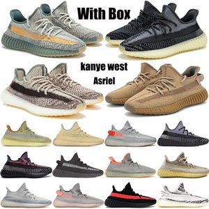 Asriel Abez Cinder Earth Kanye West Zapatos casuales reflectantes Marsh Desert Sage Tail Light Linen zyon flax hombres mujeres zapatillas de deporte