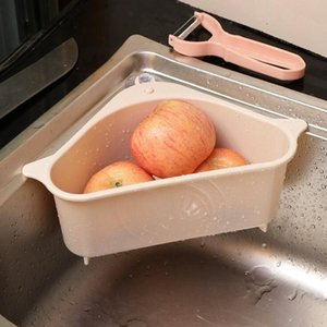 Üçgen Drenaj Sepet Evye Filtre Sebze Emiş Tepsi Lavabo Meyve Sebze Yıkama Depolama Basket Aracı DHD1162 Filtreler Rack
