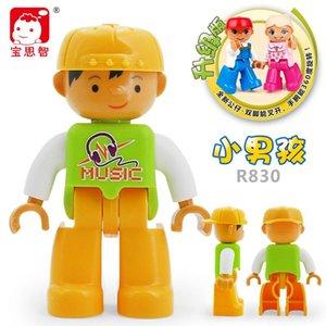 Blöcke Figuren Polizei Bricks Freunde Schöpfer Größe Worker Mädchen Duploe Creators Aktion Spielzeug Duploe Gebäude Big Family Städte ceLRk