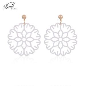 Badu Big Acid Acrylic Earrings Round Drop Earrings for Women Flower Dangle Korea Jewelry Wholesale 2020 New Fashion