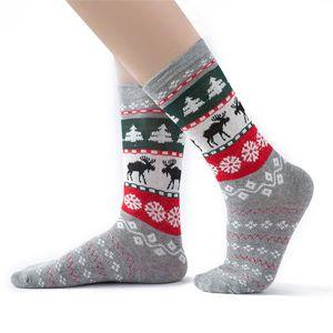 I bambini adulti di Natale Calze Babbo Natale Elk plaid calza padre-figlio del fumetto calza lunga Autunno Inverno 0-6Y neonate controllanti calzini D91006
