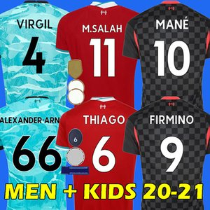 Camisa de futebol 20 21 liverpool LVP liverpool fc football shirt SALAH MANÉ FIRMINO VIRGIL HENDERSON ROBERTSON KEITA LALLANA ALEXANDER ARNOLD soccer jersey
