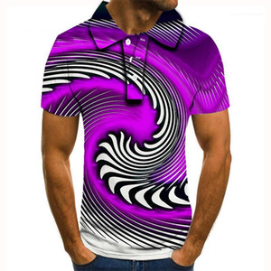 Neck Tshirts Striped Pullover Tees Male Clothing Summer Short Sleeve Mens Designer Polos Fashion Loose Lapel
