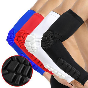 1PC Sports Honeycomb Pad Crashproof Arm Safe Guard Arm Basketball luva Elbow Suporte Brace Enrole