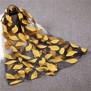 Nueva bufanda de las mujeres de moda femenina de encaje hilado Eugen bufandas verano protector solar regalo elegante pañuelo de cuello dama chica