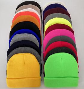 Candy Color Beanies Adults Winter Hats Junior Boys Girls Hip Hop Skull Caps Knitted Cuffed Hats Crochet Women Mens Gorros Bonnets Hat D9401