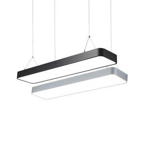 cgjxs Fer moderne Forme rectangulaire Led pendentif en métal léger Pendant Fixtures Luminaria chambre Salle à manger Bureau Chambre Restaurant Hanging L