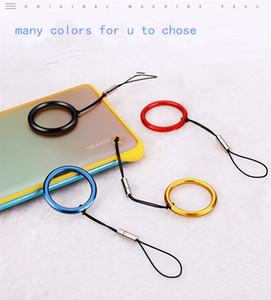frameless metal mobile phone metal hanging rope phone straps anti lost ring lanyard mix color
