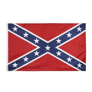 Confederate Flag US Battle Southern Flag 150*90cm Polyester National Flags Two Sides Printed Civil War Flags YYA912