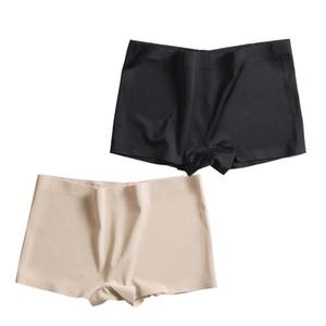 Mulheres Segurança Shorts Pants Seamless Nylon cintura alta Calcinhas sem costura Anti esvaziado boyshorts Pants Meninas Slimming roupa interior quente