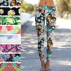 Training Leggings Schlank Schmetterling Daisy Blatt Zitrone Digital-Druck-Gamaschen-Frauen Sporthosen Fashion Frauen Fitness
