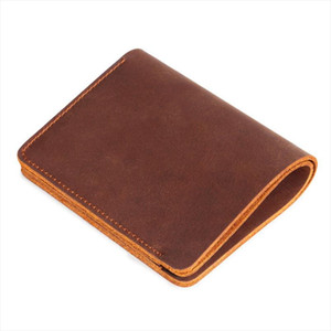 Men Purse For Men Genuine Leather Mens Wallets Casual Male Wallet Card Holder Cowskin Brown Small Purses