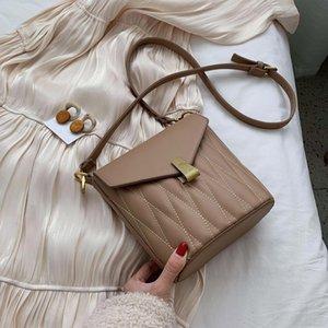 Цвет Мода Женщины Винтажное Ведро Сплошное плечо Небольшие сумки Сумки Кожаные Одиночные сумки Chispaulo SLFRC