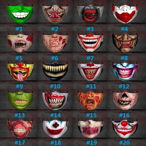 Weihnachten Halloween Big Mouth Lustige Party-Expression 3D-Druck Schutz Einstellbare Einfügbare Chip Ear Band Staub und Dunst Mask BWC2367