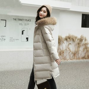 Down Jacket coreano feminino casaco parkas com capuz Cão Raccoon Fur Collar das mulheres 90% Branco Duck Down Coats Mujeres Abrigos Pph1648